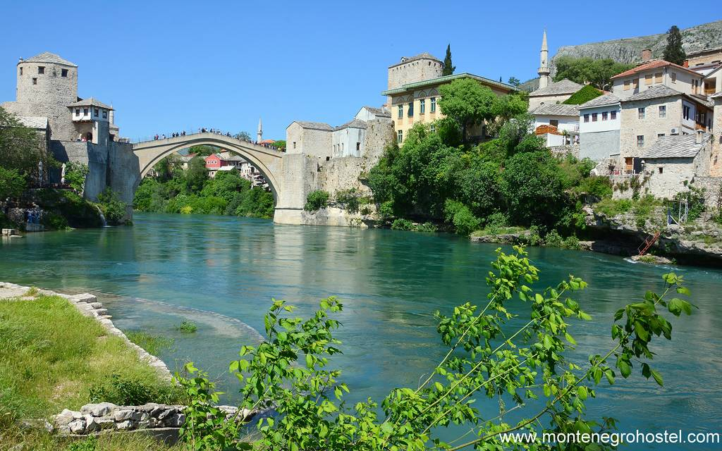 m The old bridge in Mostar